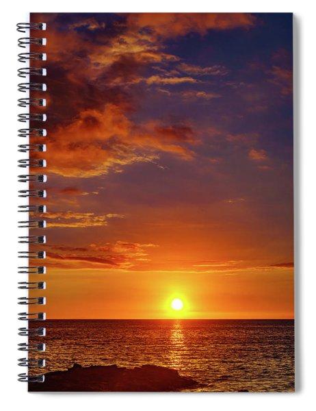 Monday Sunset Spiral Notebook