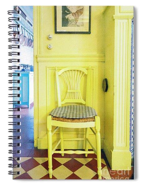 Monet's Kitchen Yellow Chair Spiral Notebook