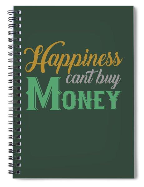 Money Happiness Spiral Notebook
