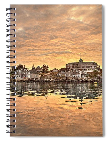 Monhegan Sunrise - Harbor View Spiral Notebook