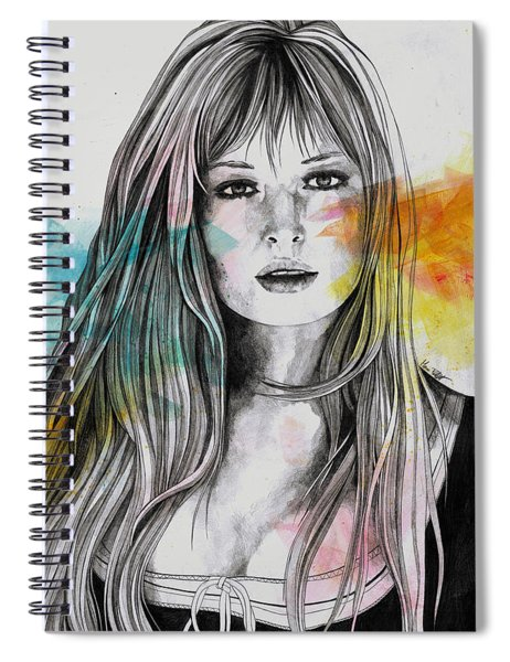 Monica - Sexy Tribute Portrait Of Monica Vitti Spiral Notebook