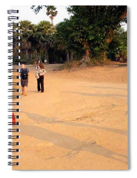 Monks At Ankgor Wat, Cambodia Spiral Notebook