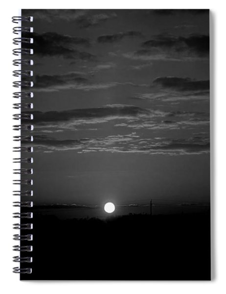 Monochrome Sunrise Spiral Notebook