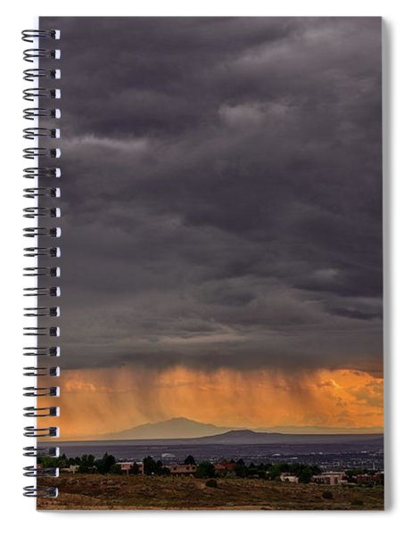 Monsoon Over The Volcanoes Spiral Notebook