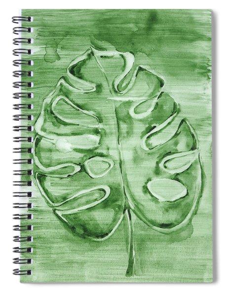 Monstera Leaf Spiral Notebook