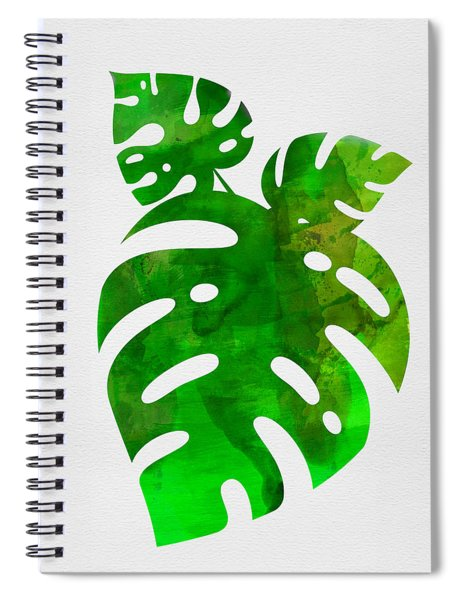 Monstera Leafs Spiral Notebook