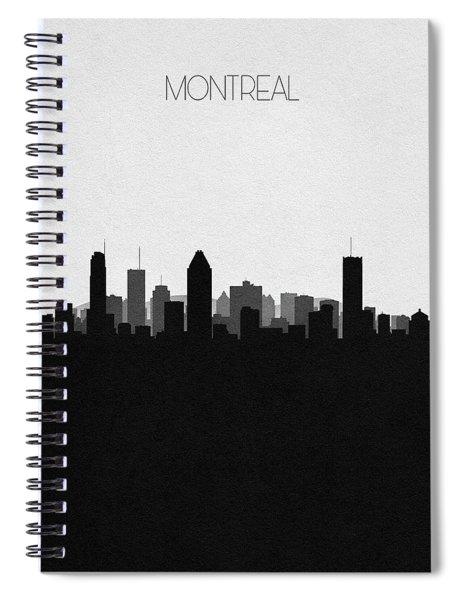 Montreal Cityscape Art Spiral Notebook
