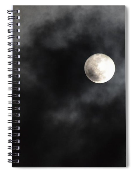 Moon In The Still Of The Night Spiral Notebook