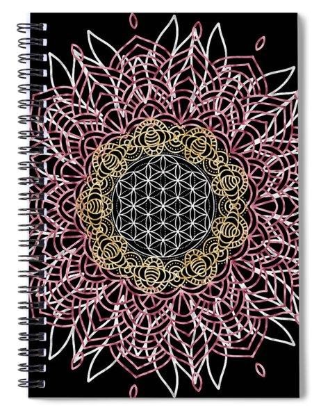 Moon Mandala Spiral Notebook