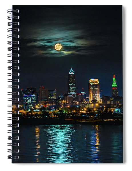 Moon Over Cleveland  Spiral Notebook