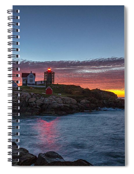 Moon Over Nubble Spiral Notebook