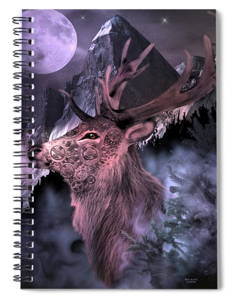 Moonlight Buck Spiral Notebook