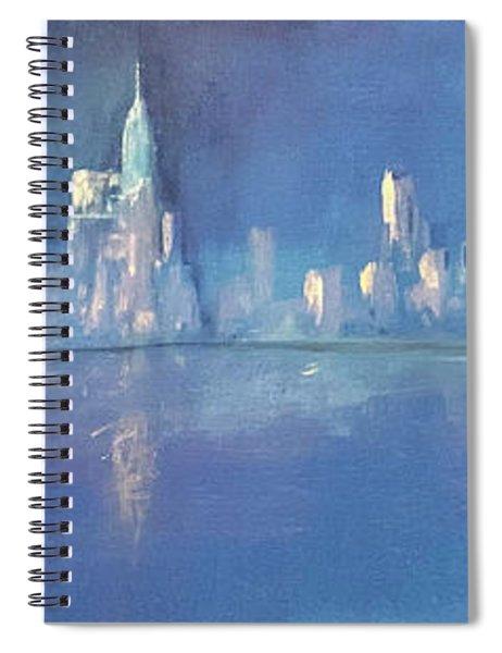 Moonlight On Manhattan  Spiral Notebook