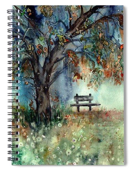 Moonlight Shadows Spiral Notebook