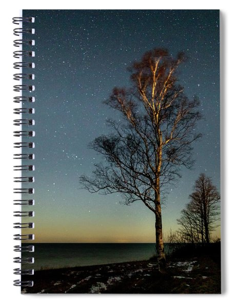 Spiral Notebook featuring the photograph Moonlit Tree by Rod Best