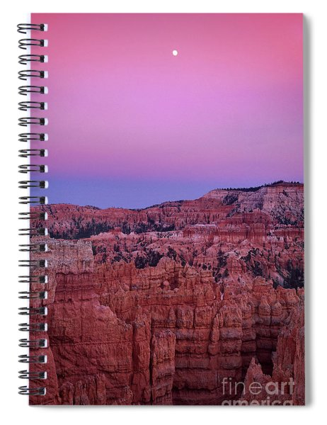 Moonrise Over The Hoodoos Bryce Canyon National Park Utah Spiral Notebook by Dave Welling