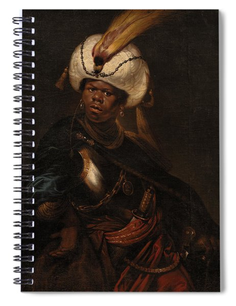 Moor Wearing A Turban And Armour Spiral Notebook