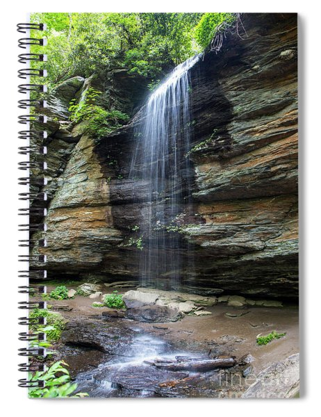 Moore Cove Falls In North Carolina 1  Spiral Notebook