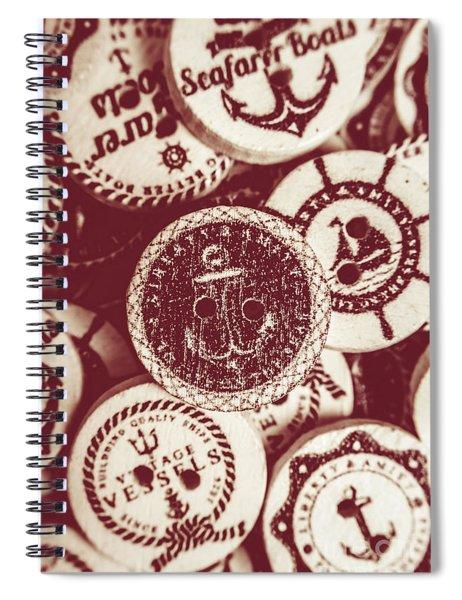 Mooring In Maroon  Spiral Notebook