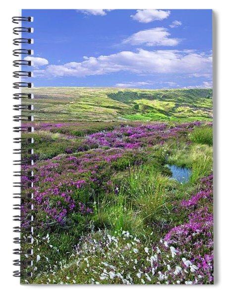 Moorland Heather And Cottongrass Spiral Notebook