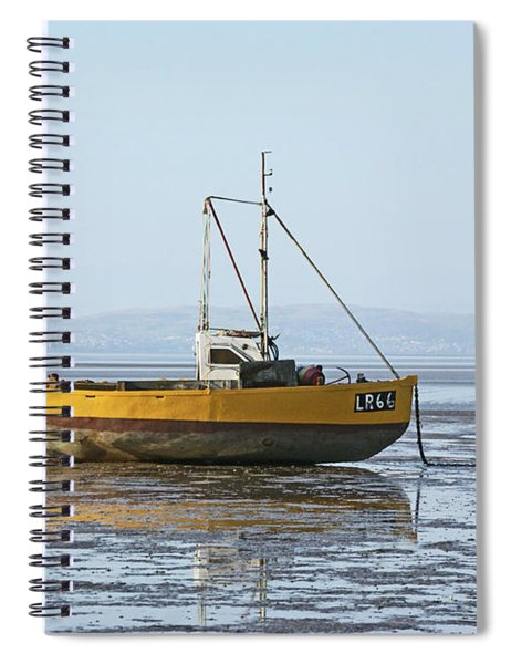 Morecambe. Yellow Fishing Boat. Spiral Notebook