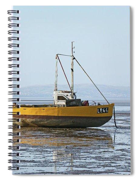Morecambe. Yellow Fishing Boat. Spiral Notebook