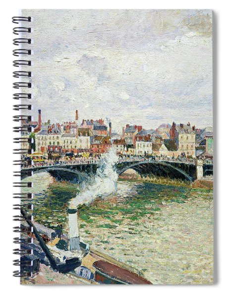 Morning, An Overcast Day, Rouen - Digital Remastered Edition Spiral Notebook