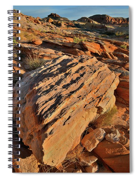 Morning At Valley Of Fire's Wash 4 Spiral Notebook
