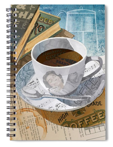 Morning Coffee Spiral Notebook by Clint Hansen
