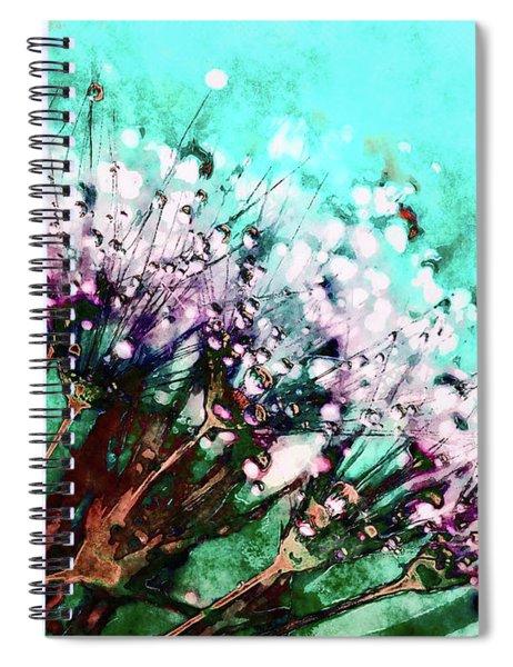 Morning Dew On Dandelions Spiral Notebook