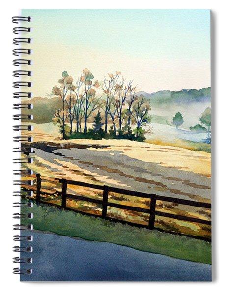 Morning Fog Rolls Away Spiral Notebook