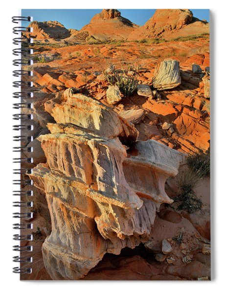 Morning Light On Beautiful Sandstone Form In Valley Of Fire Spiral Notebook