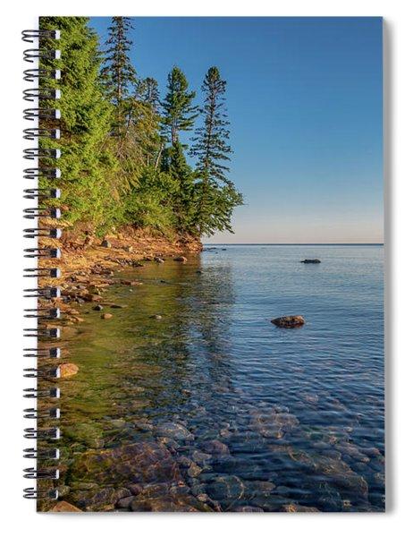 Morning Light On Lake Superior  Spiral Notebook