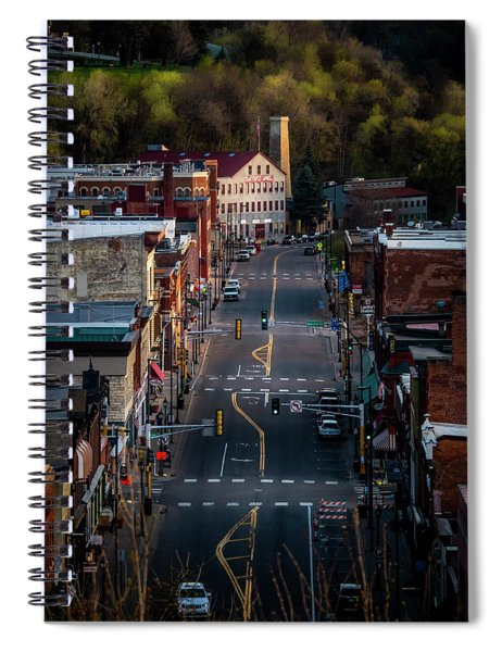 Morning Light On Main Street Spiral Notebook