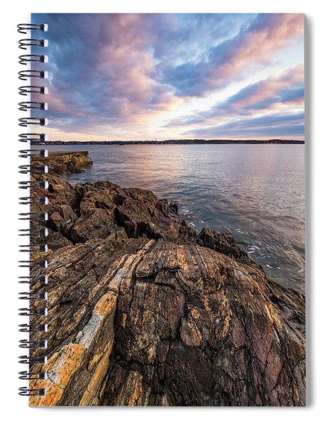 Morning Light Over The Piscataqua River. Spiral Notebook