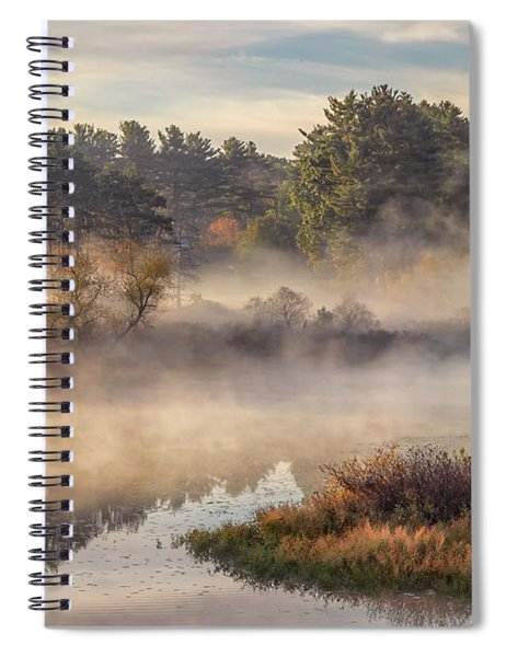 Morning Mist On The Sudbury River Spiral Notebook