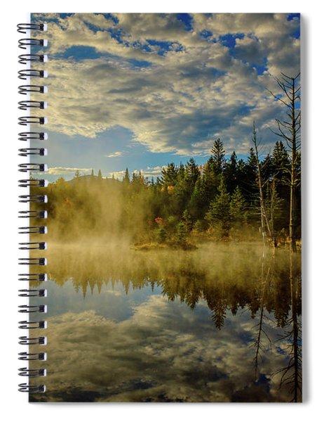 Morning Mist, Wildlife Pond  Spiral Notebook