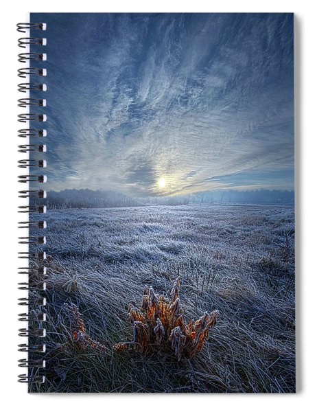 Morning Time Blues Spiral Notebook