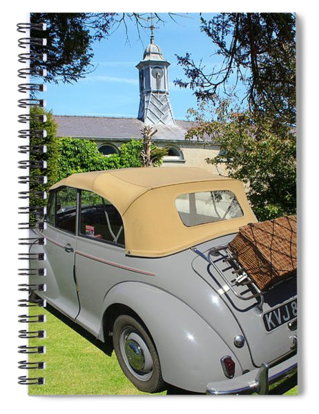 Morris Minor Grey Convertible Spiral Notebook