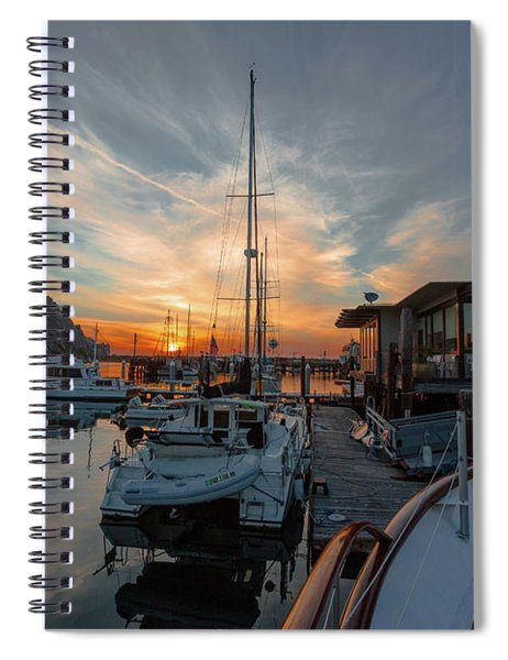 Morro Bay Sunset Spiral Notebook