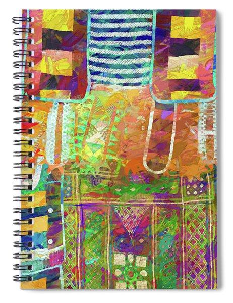 Mosaic Garden Spiral Notebook