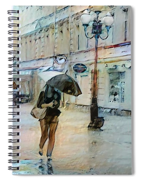 Moscow In The Rain Spiral Notebook
