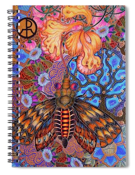 Moth Spiral Notebook