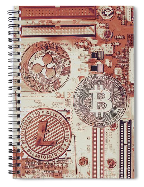 Motherboard Money Spiral Notebook