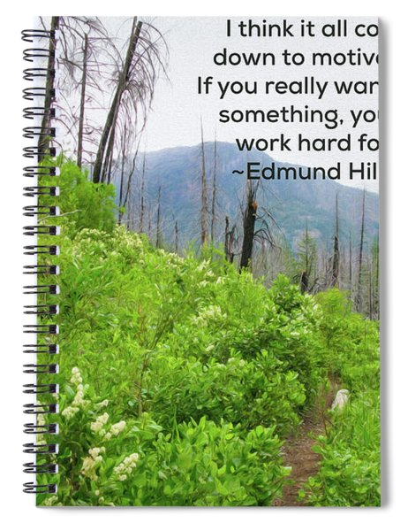Motivational Nature - Nature Art By Omaste Witkowski Spiral Notebook