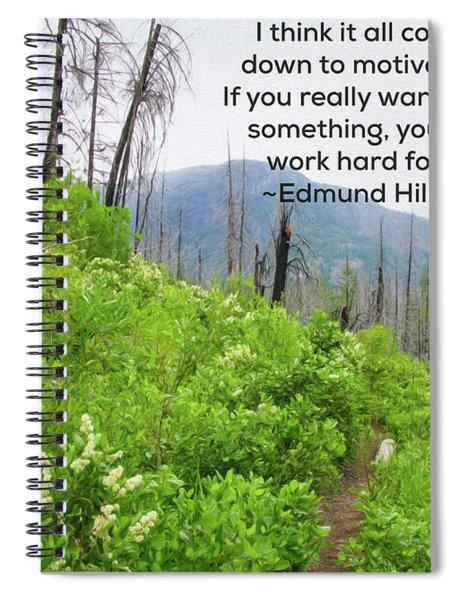 Motivational Nature - Nature Art By Omaste Witkowski Spiral Notebook