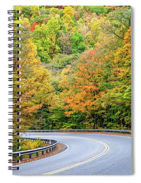 Motorcycle Country - West Virginia Spiral Notebook