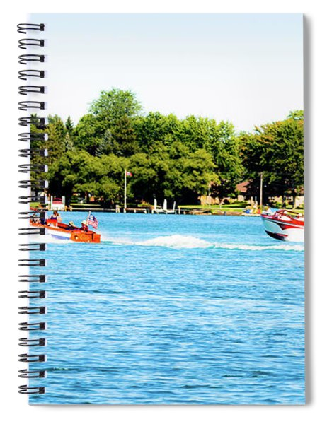 Motoring On The Blue Spiral Notebook