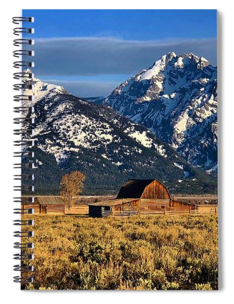 Moulton Barn Grand Tetons Spiral Notebook