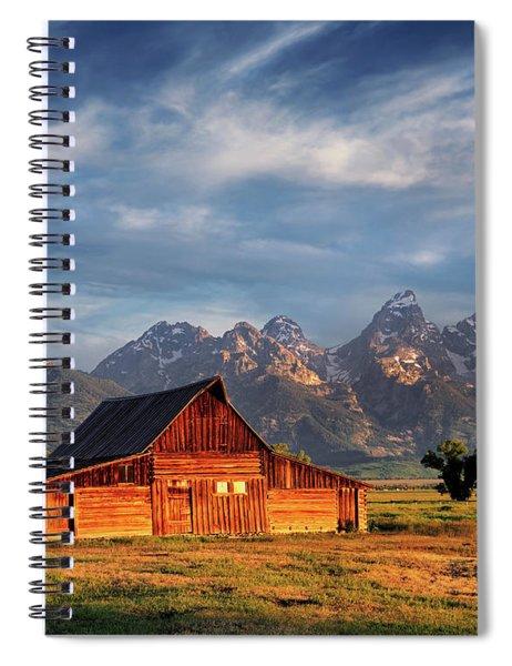 Moulton Barn Morning Light Spiral Notebook